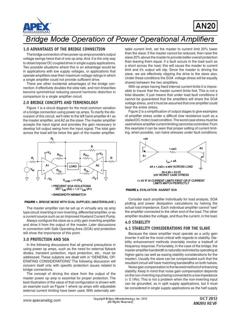 An20u F Amplifier Operational Currentamplifierca3140