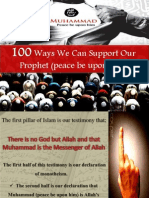 100 Ways We Can Support Our Prophet