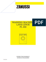 Manual Zanussi FL 402