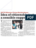 Idea of citizenship test a sensible suggestion, 24 Nov 2009, The New Paper