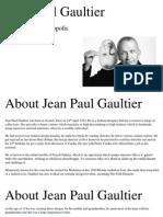 Jean Paul Gaultier Research