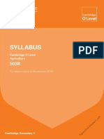 Agriculture (5038) Syllabus 2016
