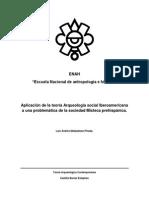 Aplicación de la teoría Arqueología social Iberoamericana a una problemática de la sociedad Mixteca prehispánica.