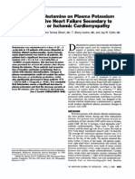 Effect of Dobutamine on Plasma Potassium in Congestive Heart Failure Secondary to Idiopathic or Ischemic Cardiomyopathy AJC 1989