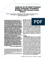 Intravenous Amiodarone for the Rapid Treatment of Life-threatening Ventricular Arrhythmias in Critically Ill Patients With Coronary Artery Disease. AJC 1989