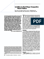 Myocardial Carnitine in End-stage Congestive Heart Failure. AJC 1989