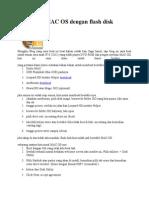Cara Instal MAC OS Dengan Flash Disk