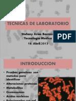 Técnicas de laboratorio para la detección de Enfermedades Genéticas