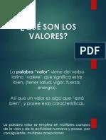 Qué Son Los Valores