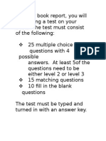 book report test