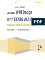 Shear Wall Design With ETABS v9.5.0 Nobel - Faisal