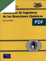 Fogler Elementos de Ingenieria de Las Reacciones Quimicas