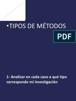 TIPOS DE METtODOLOGÍA DE INVESYIGACI´PN