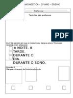 Avaliação diagnóstica 2c2ba Ano Ef Lc3adngua Portuguesa