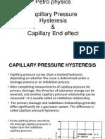Capillary Pressure hysteresis