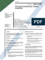 NBR 12768 - 1992 - Rochas Para Revestimento - Análise Petrográfica