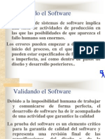 Validando el Software