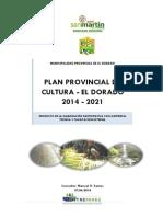 Plan Cultural Provincial 2014 El Dorado