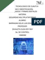 Identificación, Certificados y Firmas Digitales (Seguridad Multiplataforma)