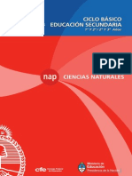 NAP Secundaria Naturales 2011