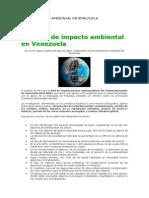 Impacto Ambiental en Venezuela Tema 3