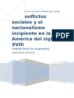 Conflictos Sociales y Nacionalismo Incipiente. Rubén Ruiz