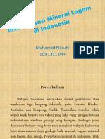 Inventarisasi Mineral Logam Di Indonesia