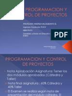 Programacion y Control de Proyectos 2 Sem 2014
