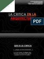 La Critica en La Arquitectura