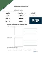 Evaluación y/o ejercicios de Comunicación