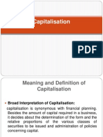 Chapter 7 Capitalisation