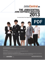 2013 JobsCentral Work Happiness Indicator Survey Report
