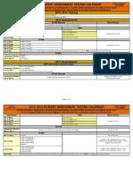 Texas STAAR Calendar 2013-2014