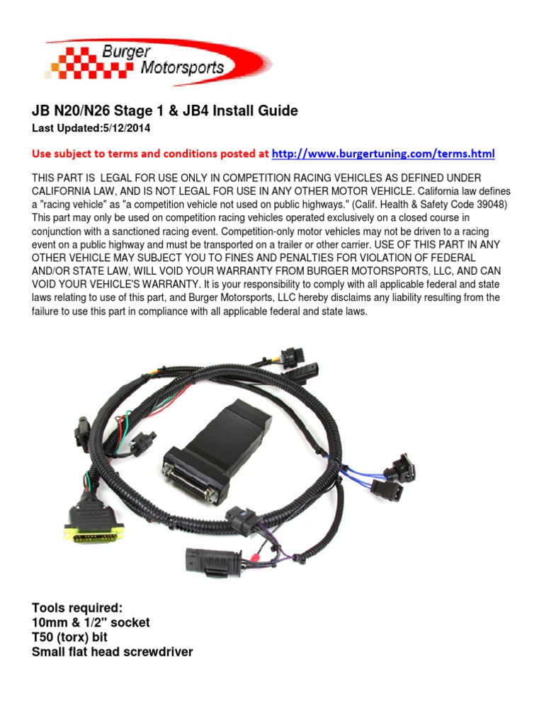 JB n20 Install   Electrical Connector   Automobiles