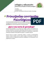 Cuadro Comparativo, Corrientes Psicológicas