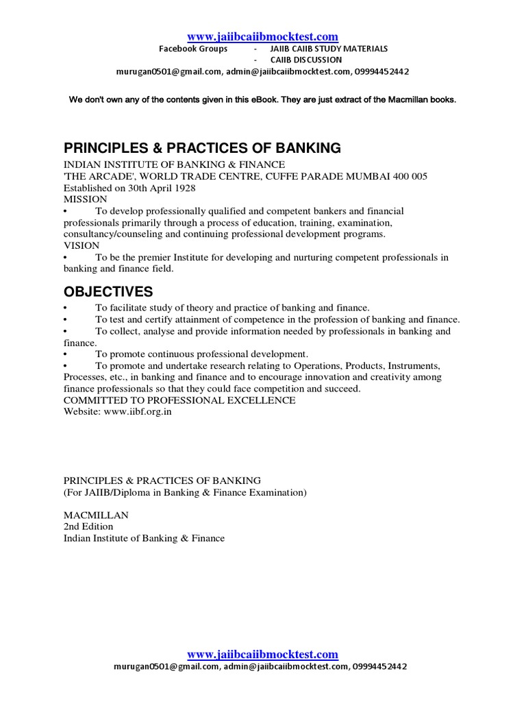 Workbooks jaiib workbook : JAIIB-MACMILLAN EBOOK-Principles and Practices of Banking.pdf ...