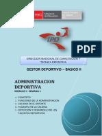 Administracion Deportiva - Módulo i - Semana -1-g05