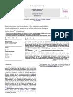 Las soluciones las propiedades y las interacciones soluto-disolvente ternario en azúcar y sal de soluciones de agua