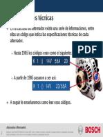 Alternadores Bosch - Especificaciones Técnicas