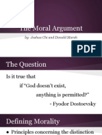 Concept of God Moral Arguments