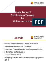 synchronous training for instructors