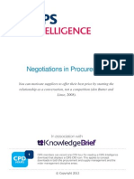 Negotiations in Procurement