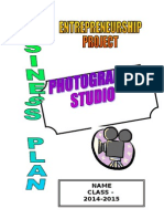Business Plan Photography Studio
