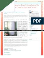 Vente De Chauffe-Eau Électrique Et D'un Réservoir Installé