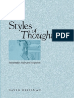 David Weissman Styles of Thought