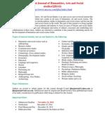 International Journal of Humanities, Arts and Social studies(IJHAS)