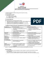 Topic 1-Intro & Cost Classification