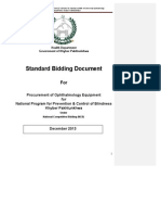 Standard Bidding Documents (SBDs) for Procurement of Ophthalmology Equipment (December 2013)