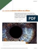 Megacurioso - 31 Fatos Insanos Sobre Os Olhos