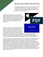 Créer Tri-Fold Brochure À L'Aide De Microsoft Word